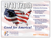 Yard sign with important points why 911 Truth is good for America