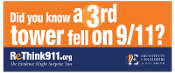 ReThink911 Rectangular Vinyl Banner