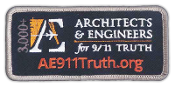 Iron on patch with AE911Truth logo