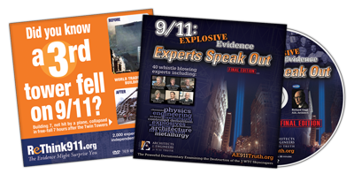 ReThink911-Themed 9/11: Explosive Evidence – Experts Speak Out in cardboard sleeve